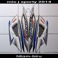 striping sticker lis body yamaha mio j sporty 2014 hitam biru