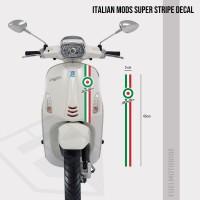 Sticker Decal Strip Italian Super Mods Vespa LX Primavera Sprint S