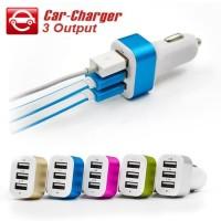 Car Charger Saver Mobil 3 Port USB