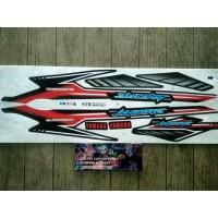 Lis Striping Sticker Mio Sporty Amore Grafis Hitam Merah