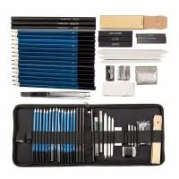 Sketching 40 Pcs Pencil Set Drawing Kit Tools Pensil Gambar Sketsa Art