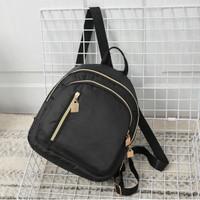 Tas Ransel Backpack Hitam Kecil Kain Nylon Cewek Korea TAS001 Lomenia