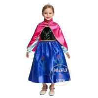 Baju Dress Kostum Anna Frozen Jubah Merah (Termurah) 5th - 10th