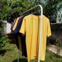 Kaos Polos Size L Kuning (Yellow)