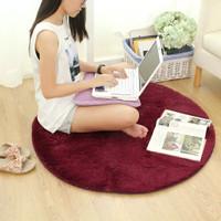 KARPET BULU Karpet Bulat 80cm Karpet Lantai Karpet Santai Karpet Rumah