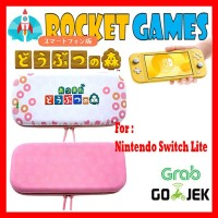 Nalan Carrying Case Animal Crossing Edition for Switch Lite (Pink)