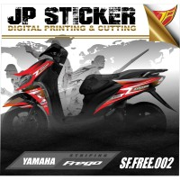 STRIPING FREEGO,Stiker Motor Freego,Stiker Freego 002