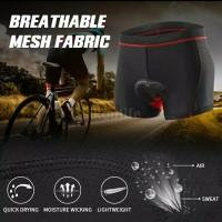 ORI ARSUXEO Celana Dalam Pendek Sepeda Gowes Cycling Padding Gel MTB