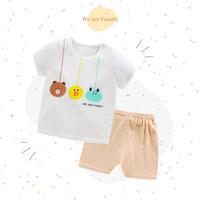 Setelan Baju Bayi Import For Boy & Girl - Beruang, Bebek, Kodok - SS06