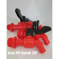 "Kran taman/ Kran Ledeng/ Kran Air Plastik PP 3/4"""