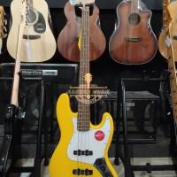 Squier affinity Series JazzBass, Laurel FingerBoard, Graffiti Yellow