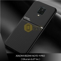 Case Xiaomi Redmi Note 9 / Note 9 Pro Premium Case Magnetic IQS Design - Hitam, REDMI NOTE 9