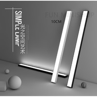 Lampu office gantung led hanging office Kantor Cafe Pendant 10cm - HITAM 3000K