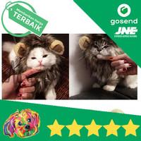 Wig Bandana Telinga Rambut Singa Kucing Anjing Pet Dog Cat Fashion
