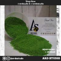 Serbuk rumput hijau daun (bahan maket, miniatur, diorama)