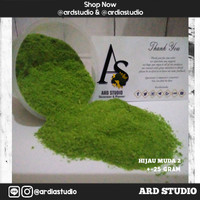 Serbuk rumput hijau muda 2 ( bahan maket, diorama, miniatur)