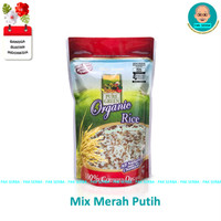 Beras Organik Pure Green Kombinasi Merah Putih Mixed Rice (1kg)