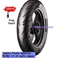 Ban Aspira Premio Sportivo Front/ Rear Uk 90/80-14 For All Matic Free