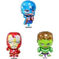 Balon Foil Baby Avengers Baby Captain America,Baby Iron Man, Baby Hulk