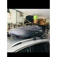 Roof box Thule + Kaki Rack Black Hitam Bagasi Atas Mobil Universal
