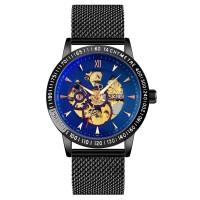 Jam Tangan Pria Analog SKMEI 9216 BLACK BLUE WaterResist 30m