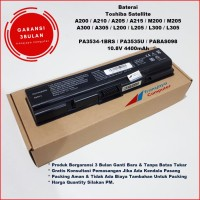 Baterai Battery Toshiba Satellite A200 A210 A205 A215 M200 M205 A300