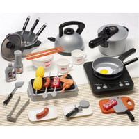 Kids Home Kitchen Play Set Mainan Anak Masak Masak 36 PCS - Hitam