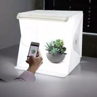 MINI STUDIO BOX LENGKAP LIGHTING LED BACKGROUND/MINI STUDIO FOTO BOX