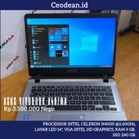 (SOLD) Laptop Asus Vivobook A407MA Ram 4 GB Ssd 240 GB | Bekas Murah