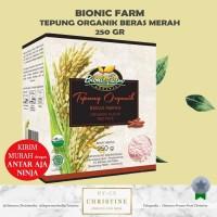 BIONIC FARM TEPUNG BERAS MERAH ORGANIK 250 GR MPASI RED RICE FLOUR