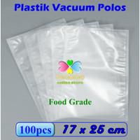 Plastik Vacum Bag Polos 17 x 25 cm, Plastik Vakum, Vacuum Bag Sealer