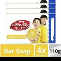 Lifebuoy Sabun Batang Lemon Fresh 4x110gr