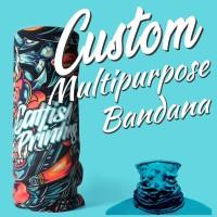 Custom Bandana Multifungsi Satuan Fullprint
