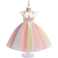 Gaun Pesta Anak Perempuan / Dress Kostum Unicorn / Baju Ultah Party