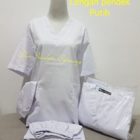 Baju OK /Lengan Pendek /Putih /Merk Dua Saudara
