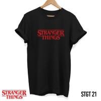 Kaos Stranger Things - Red Logo|Movie | Tshirt |Serial TV