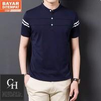 Kaos Polo Shirt Pria Polos   Baju Cowok Polo Kerah Shanghai - Zayn