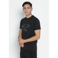 Jack Nicklaus Oley T-Shirt Pria Slim Fit Black