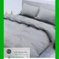 Bed cover King & Sprei Set 180 x 200 warna abu-abu