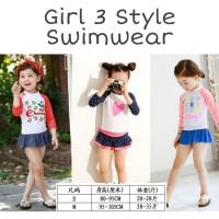 Girl 3 Styles Swimwear/ Baju Renang Anak Perempuan
