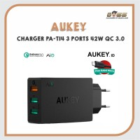 AUKEY CHARGER PA-T14 3 PORTS 42W QC 3.0 & AiQ