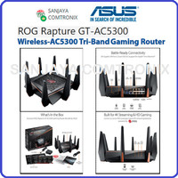 ASUS AC5300 Tri-band WiFi Gaming router for VR ROG Rapture GT-AC5300