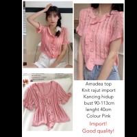 Amadea Top Knit Import Pink
