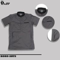 Baju Koko Pria Arys Premium Bahan Katun Toyobo Adem Tebal