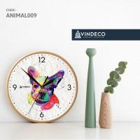 JAM DINDING / FRENCH BULLDOG / DOG /POP ART/ ANIMAL /JAM ANAK/ VINDECO