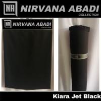 Kain Jetblack Jet Black KIARA Kain Bahan Gamis dan Abaya Premium