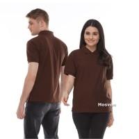 COKLAT TUA Hosvon Polo Shirt Kerah Lacoste katun 100% Size S-XXL