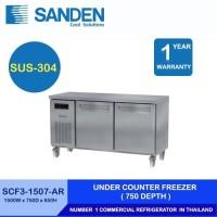 Sanden Intercool Under Counter Freezer Stainless Steel 2 Pintu 425 Ltr