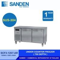 Sanden Intercool Under Counter Freezer Stainless Steel 2 Pintu 300 Ltr