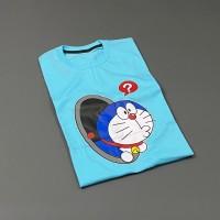 Kaos Baju Doraemon Keluar Dari Lobang Cotton Combed Pria Wanita Tshirt